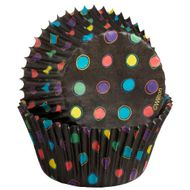 Forminha de Papel para Cupcake Black With Neon - Wilton