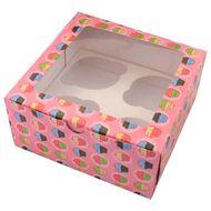 Caixa Bolinhos - 4 Cupcakes (5 uni)