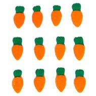 Enfeite de Páscoa em Açúcar Cenoura Micro (12 uni) - Jady Confeitos