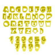 Conjunto Cortadores Letras e Números 3 Pequeno - BlueStar