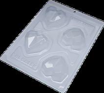 Forma de Chocolate Acetato com Silicone Trufa Coração Lapidado - BWB