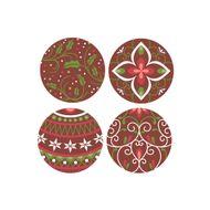 Blister Bola de Natal de Chocolate 3cm (63uni) Florais - Stalden