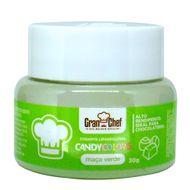 Corante Lipossolúvel em Pó para Chocolate Maçã Verde Candy Colors (30g) - Gran Chef