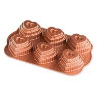 Forma para Bolo Bundt Mini Andares de Coração - Nordic Ware