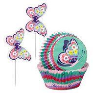 Kit Cupcakes Borboletas - Wilton