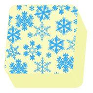 Transfer 40 x 30cm - Flocos de Neve Azul