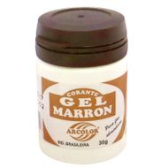 Corante gel Arcolor 30ml - Marrom