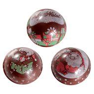 Blister Bola de Natal de Chocolate 3cm (63uni) - Noel na Lua