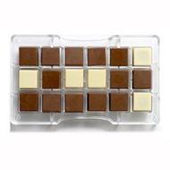 Forma de Chocolate em Policarbonato Quadrado (2,5cm) - Decora
