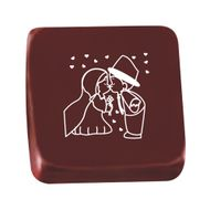 Transfer para Chocolate (40 x 30cm) - Noivinhos Beijando Branco