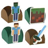 Forminha para Doce 4 Pétalas Minecraft (24uni) - Papel Confeito