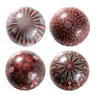 Blister Bola de Natal de Chocolate 7cm (8uni) - Adornos