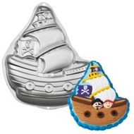 Assadeira Bolo de Navio Pirata Pirate Ship Pan - Wilton