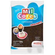 Confeito Brigadeiro Redondo Sabor Chocolate 500g - Mil Cores