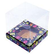 Caixa para Cupcake Unitário Caveira Color (6uni) - Miss Cupcake
