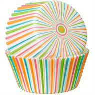Forminha de Papel para Cupcake Multi-Color Stripe - Wilton