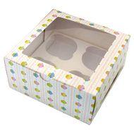 Caixa Cupcakes - 4 Cupcakes (5 uni)