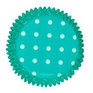 Forminha de Papel para Cupcake Teal Dots - Wilton