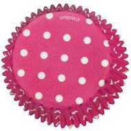 Bright Pink Polka Dots Baking Cups - Wilton