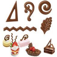 Forma de Chocolate Acetato Enfeites Dessert Accent - Wilton
