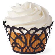 Black Swirls Cupcake Wrap - Wilton