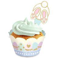 Kit Wrap para Cupcake Páscoa Carinho (12uni) - Cromus