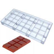 Forma de Chocolate em Policarbonato Tablete/Barra 100g - Gramado Injetados