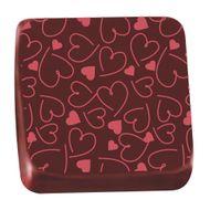 Transfer para Chocolate (40 x 30cm) - Coração Estilo Vermelho