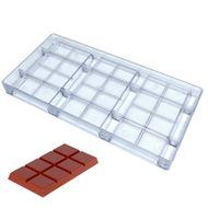 Forma de Chocolate em Policarbonato Tablete 100g - Gramado Injetados