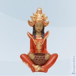 Imagem de Deusa Indu roupa vermelha