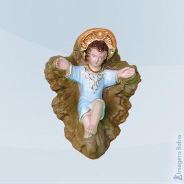 Imagem de Menino Jesus Com Manjedoura (Azul)