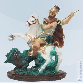 Imagem de São Jorge em resina
