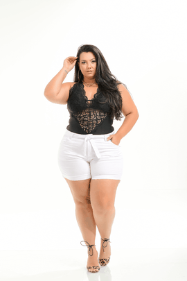 Shorts Feminina Jeans Plus Size Cintura Média Xtracharmy