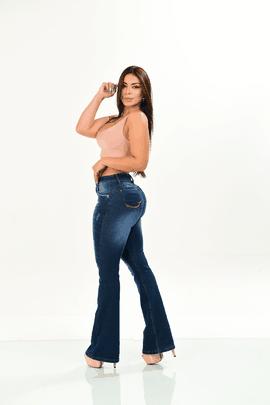 Calça Feminina Jeans Flare Destroyd W.Pink
