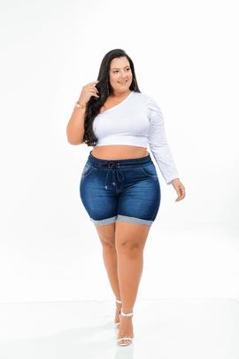 Shorts Feminino Jeans Cintura Alta Xtracharmy