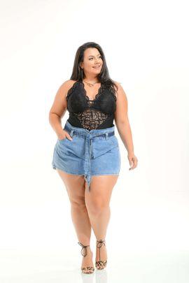 Shorts Feminino Godê Plus Size Cintura Alta Xtracharmy