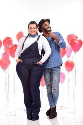 Macacão Feminino Jeans Flare Plus Size Cintura Média Xtracharmy