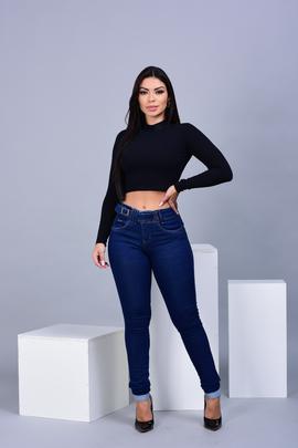 Calça Feminina Jeans Skinny Gde Detalhe Fivela