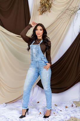 Macacão Feminino Jeans Mom Delavê
