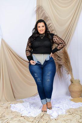 Calça Feminina Jeans Skinny Cintura Média Cinta Modeladora