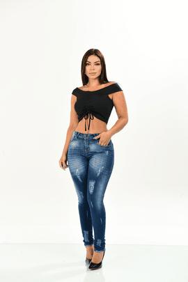 Calça Feminina Jeans Skinny Destroyd W.Pink