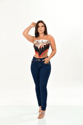 Calça Feminina Jeans Skinny 3 Botões Frontais Xtracharmy