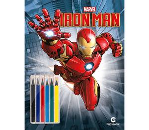 Homem de Ferro Ler e Colorir Com Lápis