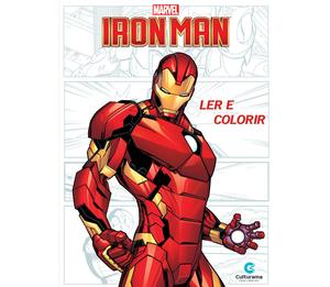 Ler e Colorir Homem de Ferro