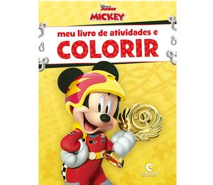 Meu Livro de Atividades e Colorir Mickey sobre Rodas Pop