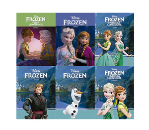 Mini Solapa Frozen com 6 Livros