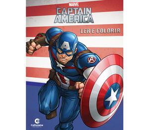 Ler e Colorir Capitão América