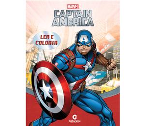 Gigante Ler e Colorir Capitão América