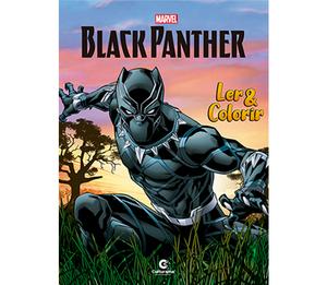 Ler e Colorir Pantera Negra