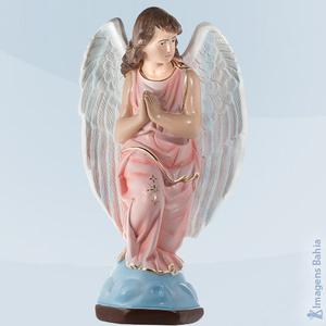 Anjo Adorador esquerdo roupa rosa, 60cm